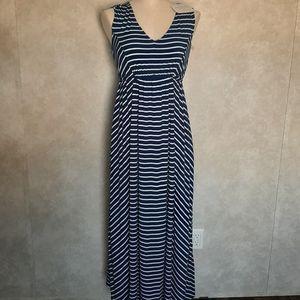 Ingrid &Isabel Striped Maternity Dress S,L,XL Blue